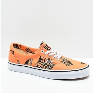 Vans authentic tangerine and black sz 12 NWT & box